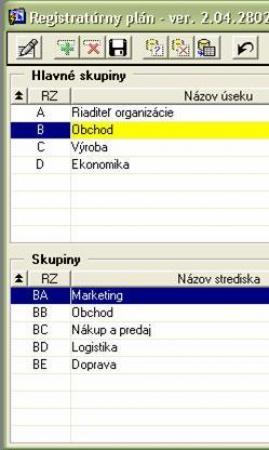 Registratúrny plán